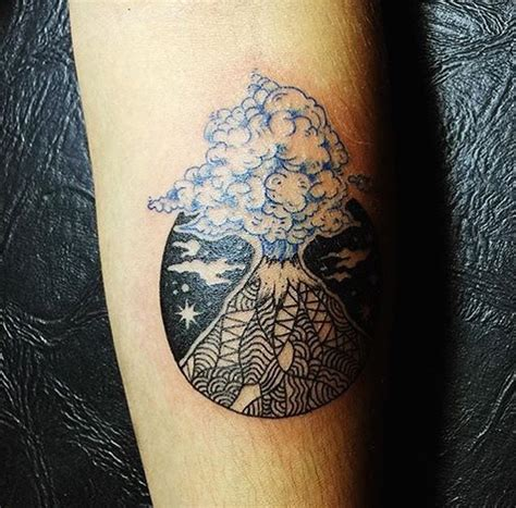 simple volcano tattoo volcano tattoo tattoo ideas ink and rose tattoos