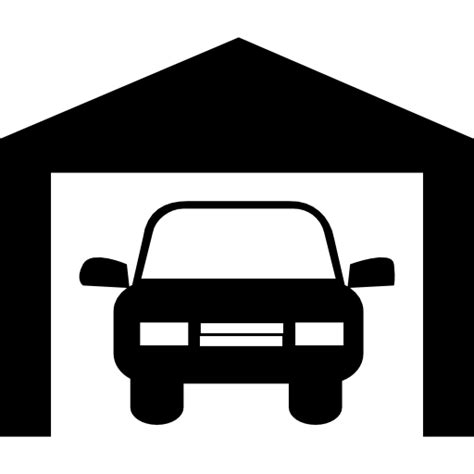 Garage Icon by Car In A Garage Free Transport Icons