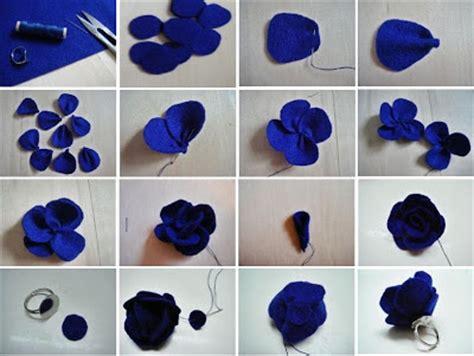 cara membuat bunga pita dari kain flanel kreasi kreatif cara membuat cincin flanel