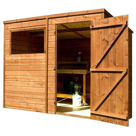 8 x 6 tongue and groove pent shed with single door 1