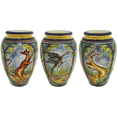 Animal Vase by Santa Rosa Majolica Animal Medallionsmajolica Vase Msr004