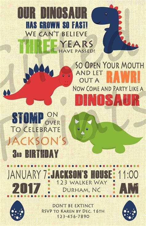 Birthday Invitation Dinosaur Theme Dinosaur Themed Invitation Templates