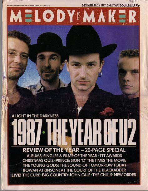 Bono Magazine Cover 2 u2 melody maker cover december 1987