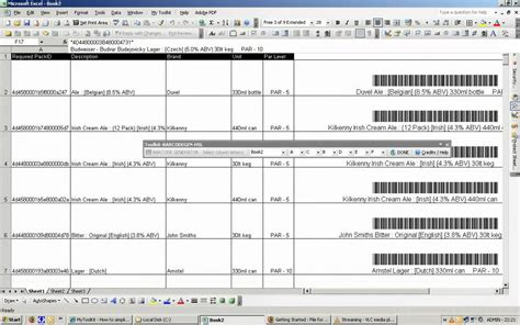 Free Barcode Generator From Excel Mytoolkit 0fees Net Doovi Excel Inventory Template With Barcode