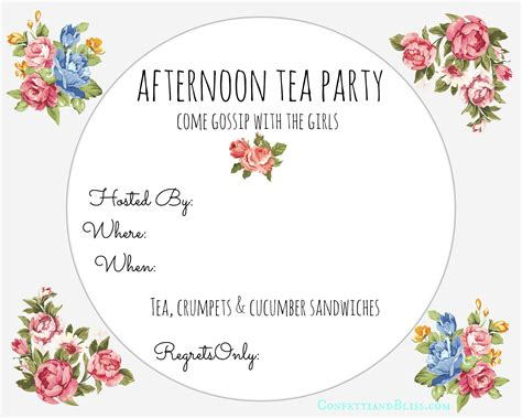 tea card template customize free printable high tea invitation orderecigsjuice info