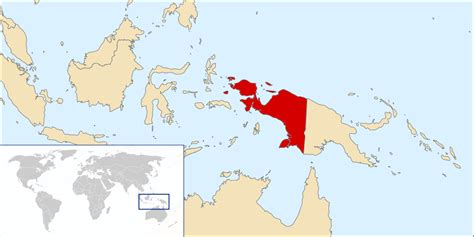 papua new guinea on world map about west papua free west papua