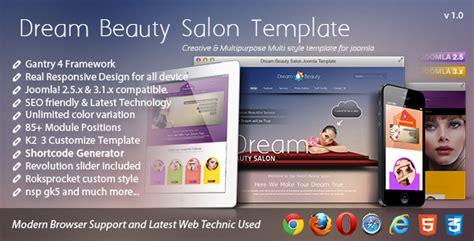 template joomla beauty salon download dream beauty salon responsive joomla template
