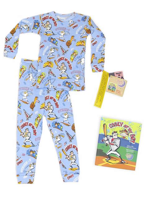books to bed books to bed casey at bat w matching blue pajama set