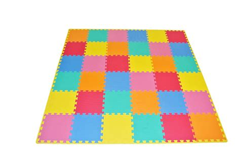 Child Floor Mat by Prosource Puzzle Solid Foam Play Floor Mat Toddler Baby 36 Tiles With Edges Ebay