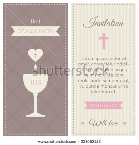 First Communion Invites Stock Images Royalty Free Images Vectors Shutterstock Communion Invitation Templates