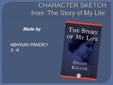 the story of my books character sketch from the story of my
