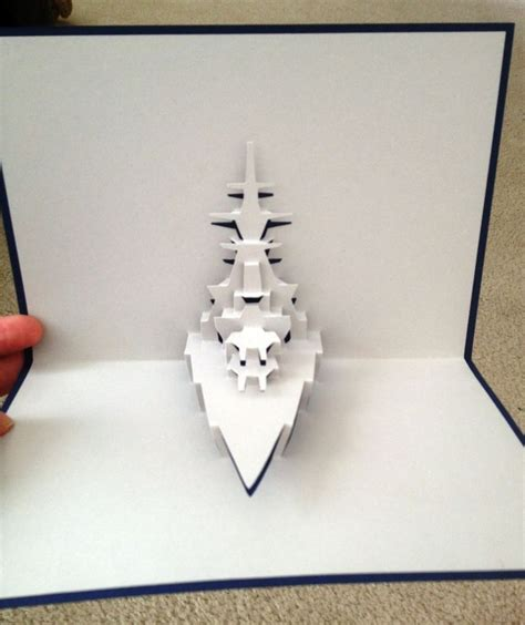 Battleship Pop Up Card Template From Popupology At Http Www Popupology Co Uk Learn Nana Www Popupology Co Uk Templates