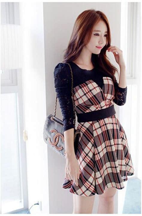 Dress Korea Original 48 boutique free shipping korean playful printing two grid stitching dress in dresses