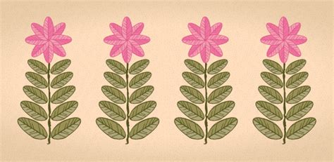 tutorial vector flower quick tip retro leaves and flowers with the transform effect