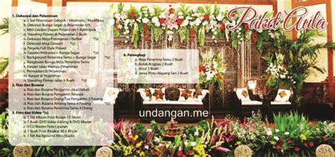 contoh brosur pernikahan murah undangan me