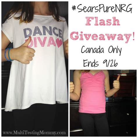 Sears Giveaway - sears pure nrg apparel giveaway