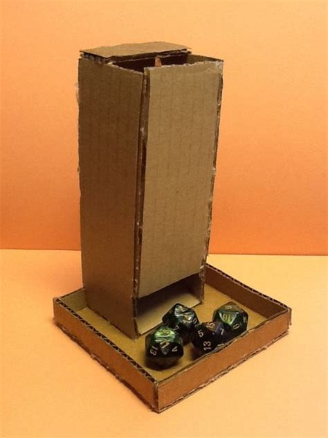 How To Make A Tower With One Of Paper - how to make a cardboard tumbling dice tower