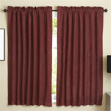 blackout curtains red blazing needles 63 inch blackout curtain panels in red