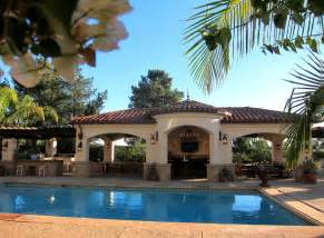 Pool Houses And Cabanas by Spanish Colonial Revival Style Pool Cabana In Santa