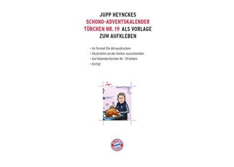 Aufkleber Bayern Adventskalender by Kurios Heynckes Als Aufkleber Jetzt Auch F 252 R Den