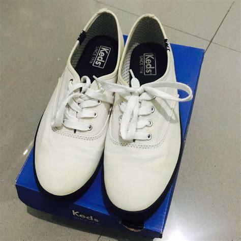 Sepatu Merk Uk 39 authentic keds shoes white black size 39 sepatu keds