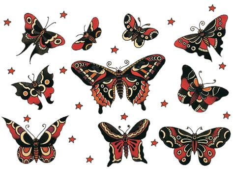 vintage style tattoos sailor jerry vintage designs moth butterfly