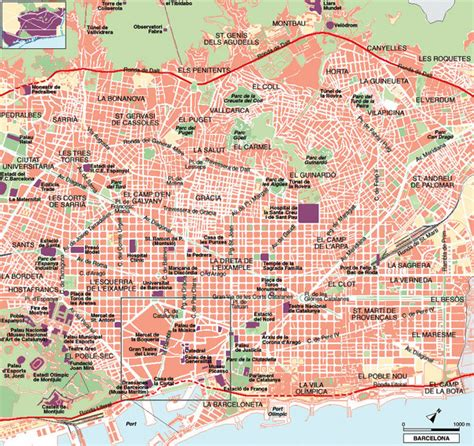 barcelona map tourist attractions barcelona tourist map barcelona mappery