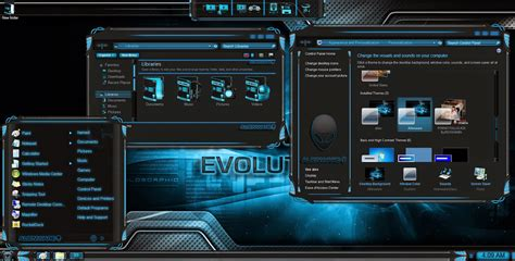alienware themes for windows 10 free download alienware evolution skinpack for windows 7 8 8 1