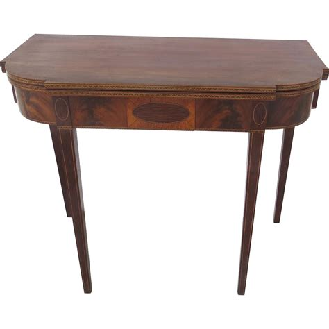 american flip top desk american hepplewhite period fold over flip top game table