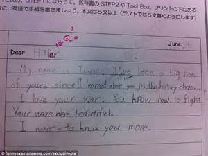 Dear Hitler, your wars were beautiful': The hilarious and disturbing ... A-test Paper