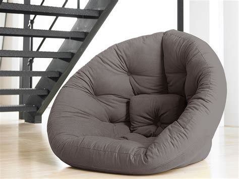 matelas chauffeuse chauffeuse convertible matelas futon nido futon chair gris