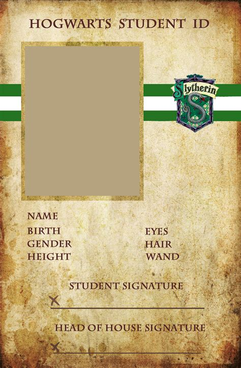 make a student id card slytherin id by animejunkie106 on deviantart