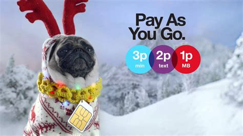 pug advert three pay as you go at still seriously serious pug 321 advert