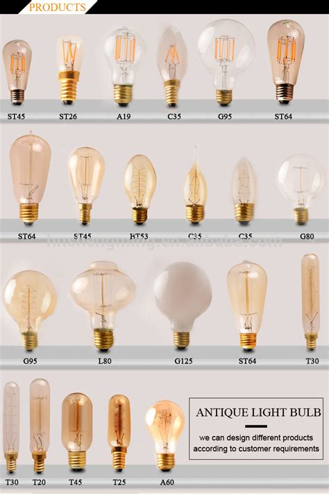 China Supplier Edison Incandescent L Bulb A19 Vintage Light Bulbs For Sale