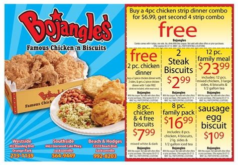 printable restaurant coupons jacksonville fl bojangles southside coupons