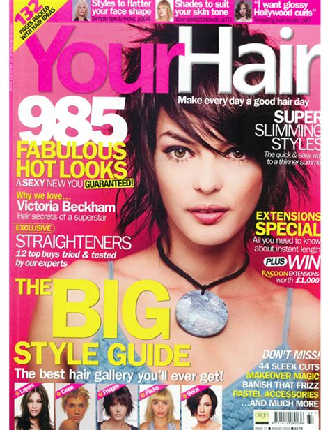 cover of short hair style guide magazine hair magazine short hairstyles 2018