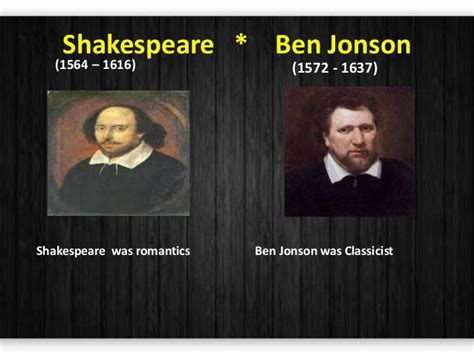 Thesis William Shakespeare And Ben by Paper 3 Comparision Between Shakespeare And Ben Jonson