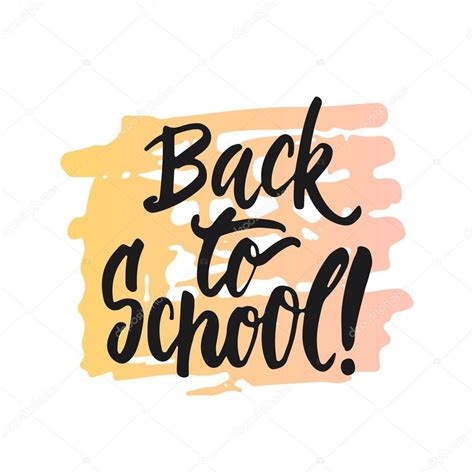 back to school lettering or back to school lettering calligraphy phrase handwritten