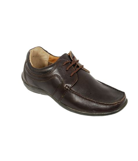 woodland brown leather smart casual shoes price in india