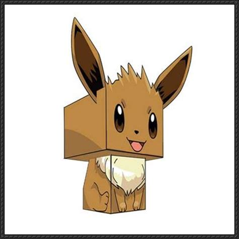 Eevee Papercraft - eevee papercraftsquare free papercraft