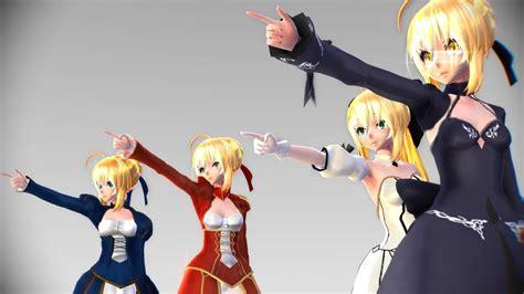 Saber Nero Fate Ver 1 mmd fate sweet colate remix test model 4 tda
