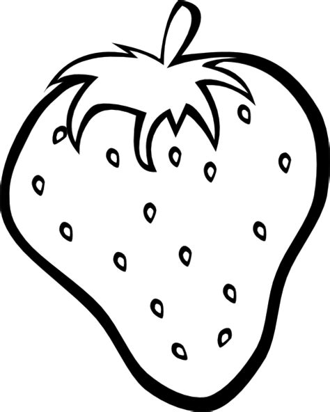 Strawberry Outline Drawing strawberry 11 clip at clker vector clip royalty free domain