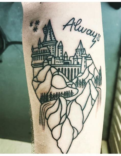 minimalist tattoo orlando i have wanted a minimalist hogwarts tattoo for a long time
