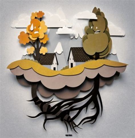 Paper Cut Out Crafts - paper cut out using paper to create sculpture like