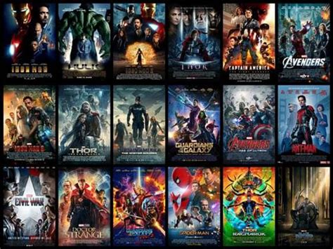 film baru marvel film marvel dari awal urutan film marvel superhero