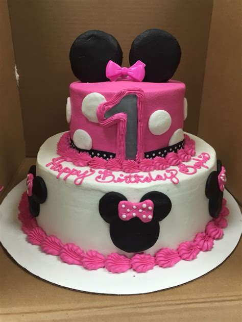 minnie mouse birthday cake walmart buttercream minnie mouse tier i made at walmart lizzy s