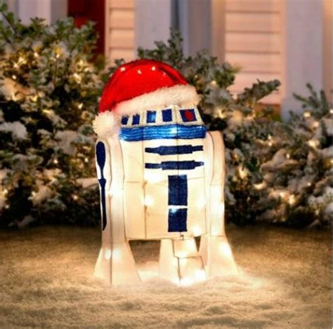 24 quot lighted pre lit star wars r2d2 christmas outdoor yard