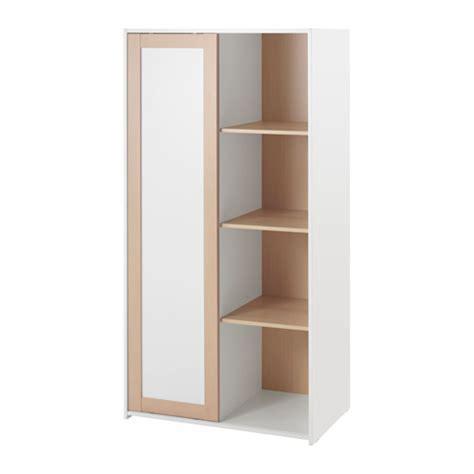 armoire 3 portes coulissantes ikea sniglar wardrobe beech white 81x50x163 cm ikea