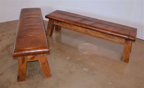 vintage leather bench vintage leather gymnasium bench at 1stdibs