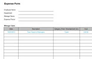 Business Expense Form Template business expense form template bizorb